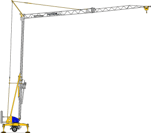 Potain Cranes for Sale at Caledonian Cranes, Scotland. 12
